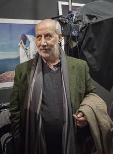 Domenico Adriano all'inaugurazione del Caffè Fotografico